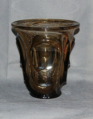 French Art Deco Smokey Grey Glass Vase Possibly Pierre D'Avesn