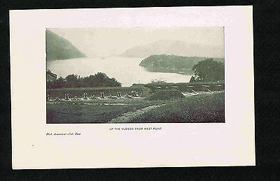 Up the Hudson River from West Point - Cannon- 1900 Lithograph