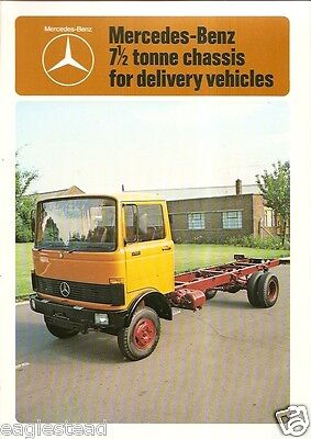 Truck Brochure - Mercedes Benz - LP809 7.5 Tonne Chassis Delivery - 1978 (TB46)