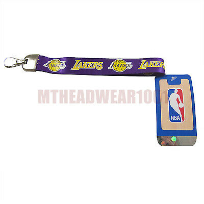 OFFICIAL LICENSED NBA WRISTLET LANYARD **LOS ANGELES LAKERS** KEYCHAIN KEYRING