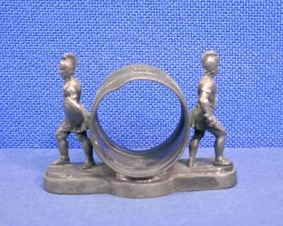 Antique Silverplated Figural Napkin Ring Holder Roman Soldier Gladiator Wilcox
