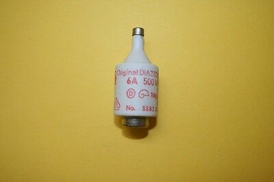 SIEMENS DIAZED BOTTLE FUSE 5SB23 6A 500V    fd7e1