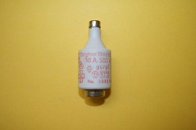 SIEMENS DIAZED BOTTLE FUSE 5sb2 10A 500V    fd7e4