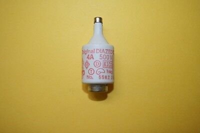 SIEMENS DIAZED BOTTLE FUSE 5sb2  4A 500V    fd7e3