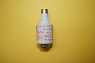 SIEMENS DIAZED BOTTLE FUSE 5sb 26  16A 500V    fd7e5