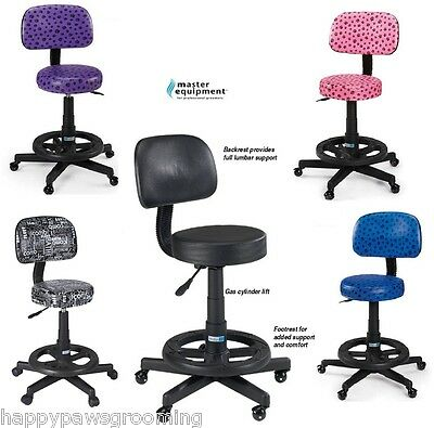 Master Equipment DELUXE SWEET SIT PAWPRINT STOOL-BACKREST FOOTREST Pet Grooming