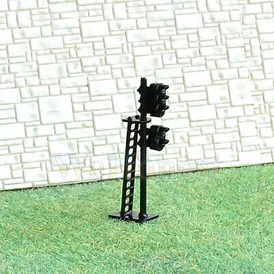 2 pcs N Scale 1:160 LEDs Made 2 heads Railroad Signals 3 over 2 G/Y/R G/R #N