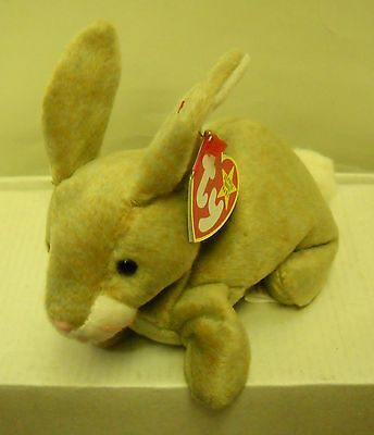#3604 NWT RETIRED TY 1999 Nibbly the Rabbit Beanie Baby Plush DOB 5-7-98