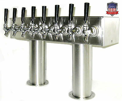 Stainless Steel Draft Beer Tower Made in USA - 8 Faucets - Air Cooled  PTB-8SS