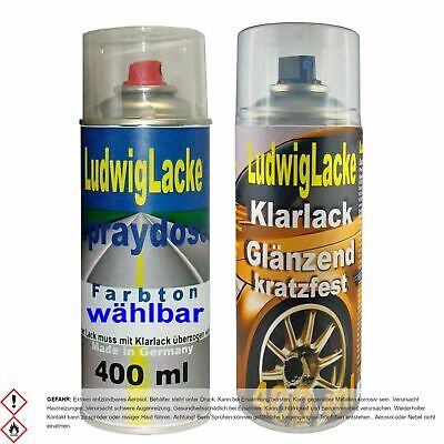2 Spray im Set 1 Autolack 1 Klarlack je 400ml PEUGEOT EGE Bleu de Chine