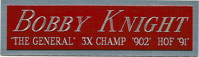 Bobby Knight Indiana Nameplate Autographed Signed Basketball-Jersey-Photo-Chair
