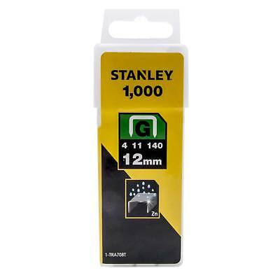 1000 Heavy Duty 12mm Stanley 0-TRA708T SharpShooter Staples Type G, 4, 11 or 140