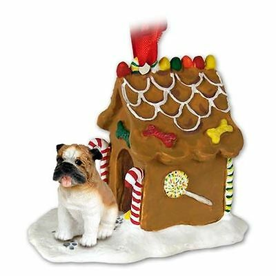 BULLDOG Dog Ginger Bread Gingerbread House Christmas Holiday ORNAMENT
