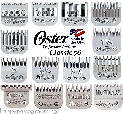 GENUINE OSTER CryogenX CLASSIC 76 PRO CLIPPER BLADE A5 AG BG*HAIR STYLIST BARBER