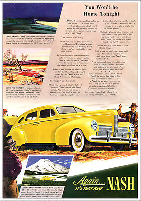 Nash 1940 Retro A3 Poster Print From Classic Advert 1940