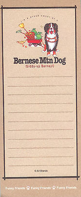 BERNESE MOUNTAIN DOG Funny Friends Magnetic NOTEPAD List Pad
