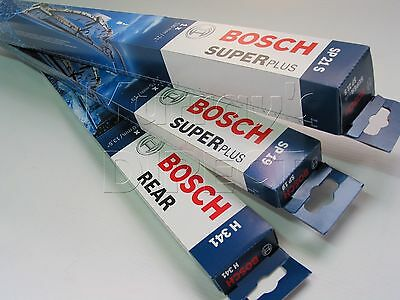 Set of 3 Bosch Super Plus Wiper Blades for VW Mk3 Golf Hatchback & Estate