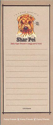 SHAR PEI Dog Funny Friends Magnetic NOTEPAD List Pad