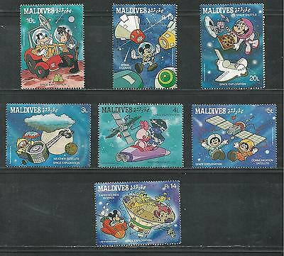 MALDIVES # 1273-1279, MNH  DISNEY Mickey and Friends Exploring Space