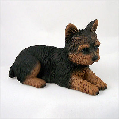 Yorkie Hand Painted Collectible Dog Figurine Puppy Cut