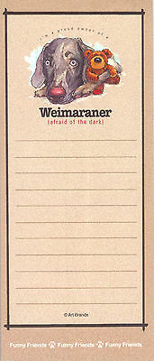 Weimaraner Dog Funny Friends Magnetic NOTEPAD List Pad