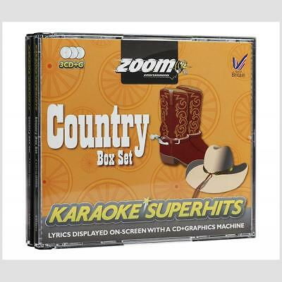 Zoom Karaoke CDG Country Superhits - 3 Discs,67 tracks