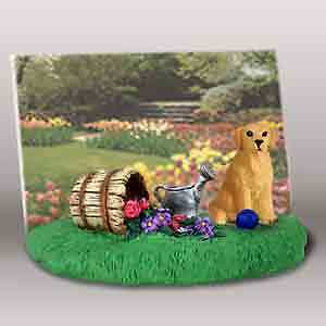 Golden Retriever by Flowers Dog Resin Picture Photo Frame