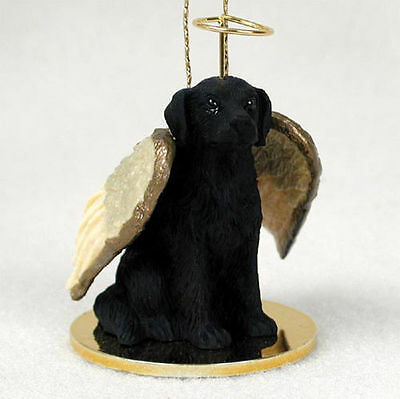 Flat Coated Retriever Dog Figurine Angel Statue Ornament