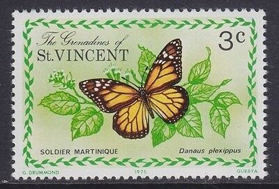 Grenadine Of St. Vincent 1975 - Farfalle - Butterfly - C. 3 - Mnh