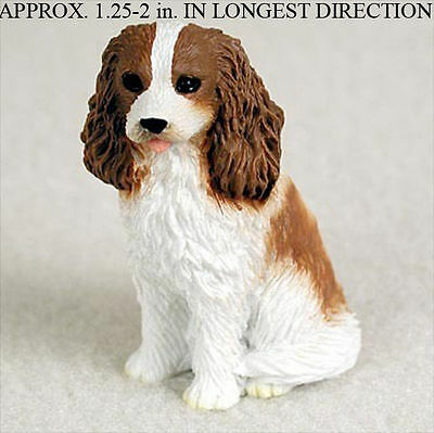 Cavalier King Charles Mini Hand Painted Figurine Brown/White