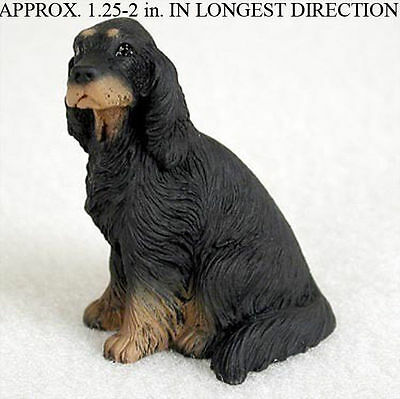 Gordon Setter Mini Resin Dog Figurine Statue Hand Painted