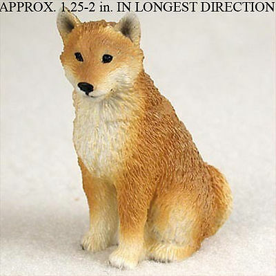 Shiba Inu Mini Resin Hand Painted Dog Figurine Statue