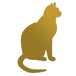Sca Art - Cat Sticker Vinyl Decal Pet Wall Art Or Car Window
