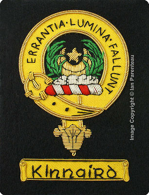 Kinnaird Family Crest Hand Embroidered Sew-On Blazer Badge