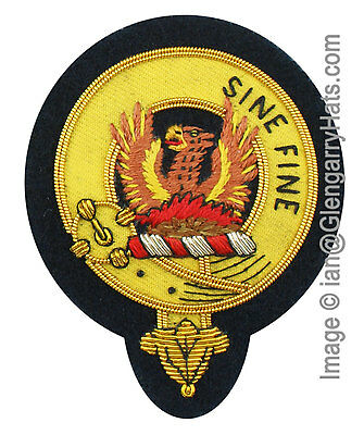 MacGill Family Crest Hand Embroidered Sew-On Cap Badge