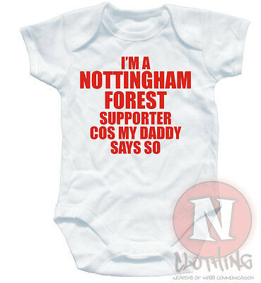 I'm a Nottingham forest supporter football baby suit grow vest 6-12month