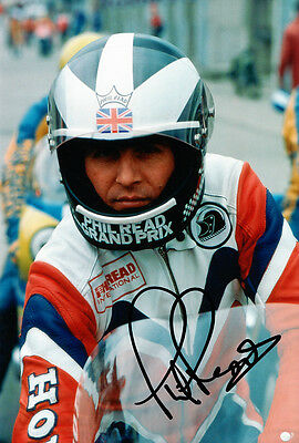 Phil Read Hand Signed Honda Photo 12x8 2.