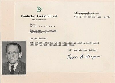 Sepp Herberger 1954 World Cup West Germany SIGNED AUTOGRAPH UACC AFTAL Founders