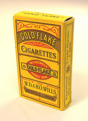1:12 Scale Empty Gold Flake 10 Cigarette Packet Dolls House Miniature Accessory