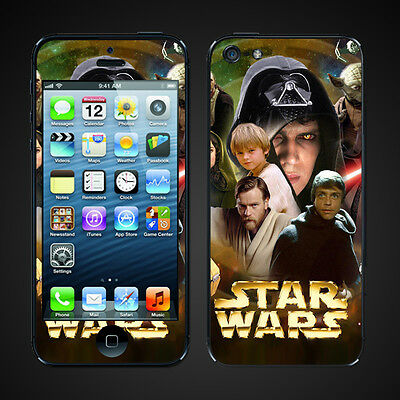 iphone 5 vinyl Skins Kit - Star Wars Episode trilogy aniken darth luke