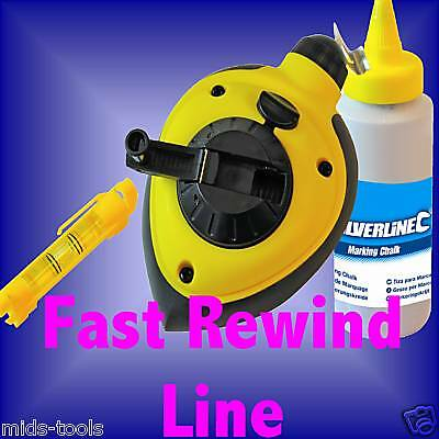 FAST REWIND CHALK LINE PLUMB BOB level marking
