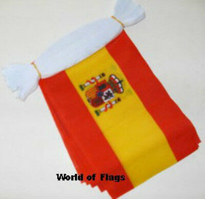 SPAIN BUNTING Spanish State Crest Flag 9m 30 Party Flags Europe European 9 Metre