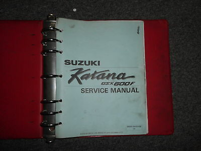 Suzuki gsx600f gsx750f katana cyclepedia printed motorcycle service 1987 suzuki gsx600f katana motorcycle service shop repair manual binder included fandeluxe Gallery