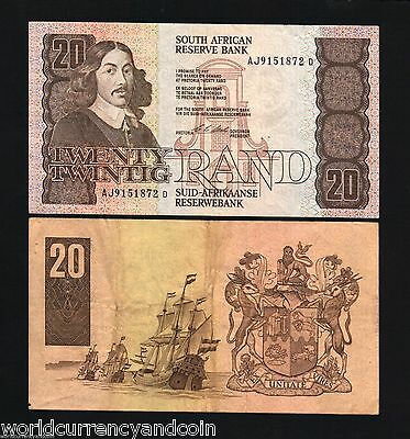 South Africa 20 Rand P121E 1990 Sailing Ship African Currency Bill Money  Note