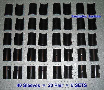"5 SETS (20 Pair) SPLIT SLEEVES/Shelf Clips for ALL 1"" Metro-Type Wire Shelving"