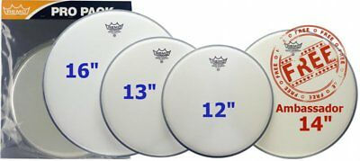 Remo Emperor Coated Rock Value Pack PP-1010-BE