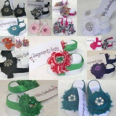 Tiny Toes Boutique Chiffon Socks Sandals Shoes Jeweled Feet Toes Baby Blooms