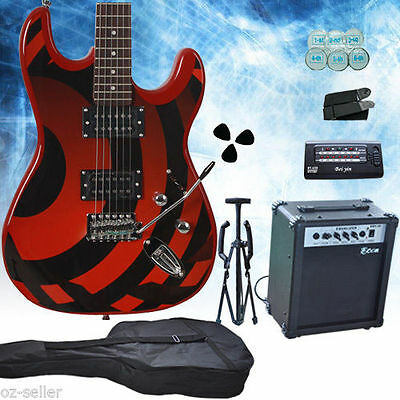 Bettle Stripe Multiple Pickup Electric Guitar with Amp Set