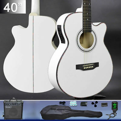 40-inch Cutaway Electric Acoustic Guitar With Guitar AMP Tripod Tuner Belt Bag