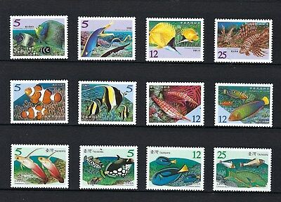 China Taiwan 2005 2006 2007 Coral Reef Fish stamps set x 3 Full